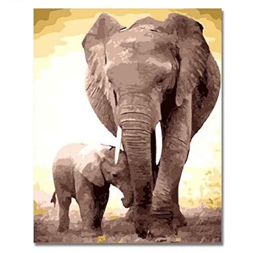 lder Malen Nach Zahlen Auf Leinwand Arst Diy Handgemalte Tier Färbung Billig Ölgemälde Geschenk Für Kind Dekor With Frame ()