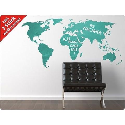 ui de pared love de lmina de pizarra mapa del mundo