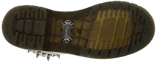 Demonia RIVAL-106 RIV106/BPU Wht Vegan Leather-Blk Pat