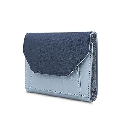 ZLR Mme portefeuille Portefeuille en cuir pour femme en petite coupe Portefeuille en peau de mouton en peau de mouton Portefeuille à grande capacité