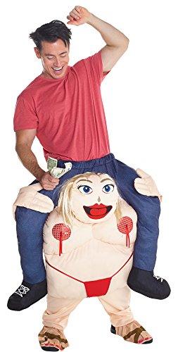 Morphsuits MCPBFS - Fetter Stripper Huckepack Kostüm - Uni Größe