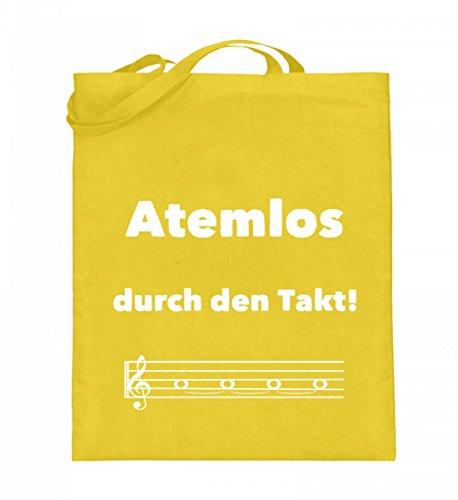 Atemlos durch den Takt - für alle Chor Sängerinnen und Sänger und Blasmusik Blechbläser - Jutebeutel (mit langen Henkeln)
