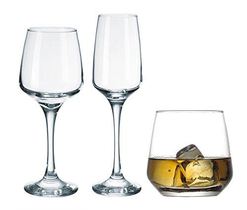 Reception 1618379Florenz-Service Glas transparent 30x 24,5x 32,5cm 18teilig