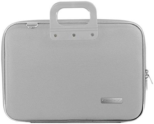 Bombata Nylon Aktentasche für 15 Zoll Laptop, grau - Grau Laptop Attache