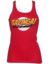 Ladies Red Bazinga Logo Big Bang Theory Racer Vest