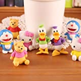 Sshakuntlay Eraser Cute Cartoon Character Styling Eraser for Children Study Supplies.