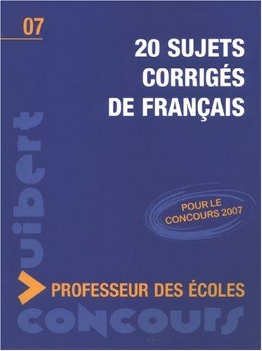 20 Sujets corrigés de français