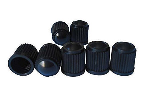 Kappen Corvette Reifen (4x Auto Schutz Ventilkappen schwarz Staubschutz Autoventil aus Kunststoff Reifen Gummi von ETU24)