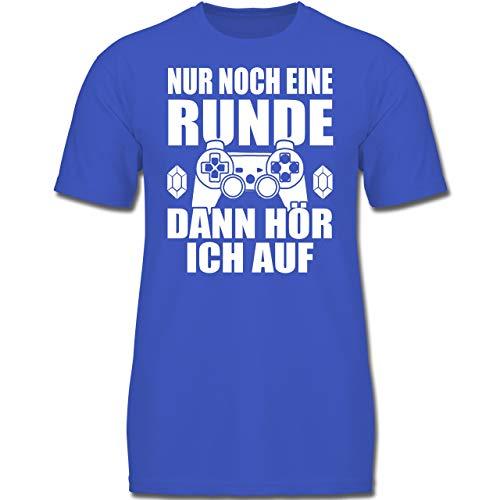 Sprüche Kind - Nur noch eine Runde - 152 (12-13 Jahre) - Royalblau - F130K - Jungen Kinder T-Shirt Runde 13