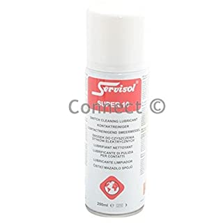 Servisol Super 10 Switch Contact Cleaning Lubricant High purity electrical cleaning and mechanical lubrication for contacts switches and relays Removes grease tarnish oxidation and other contamination from contact surfaces ( High purity electrical cleaning and mechanical lubrication for contacts switches and relays - Service aids)