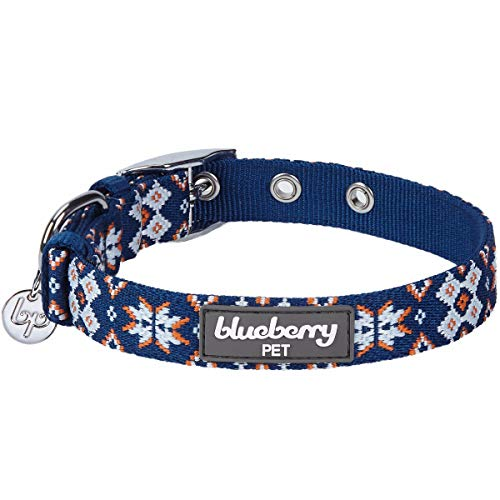 Blueberry Pet Hundehalsband, verstellbar, 13 Farben, 17