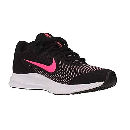 Nike Downshifter 9 (GS), Scarpe da Atletica Leggera Unisex-Adulto, Multicolore (Gym Black/University Red/White 000), 40 EU