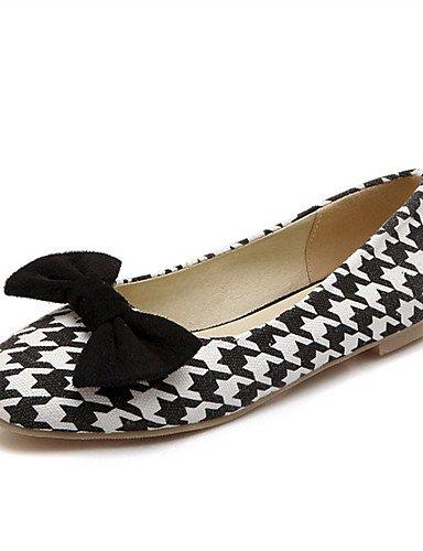 XAH@ Chaussures Femme-Mariage / Habillé / Décontracté / Soirée & Evénement-Noir / Bleu / Rouge-Talon Plat-Nouveauté-Plates-Similicuir blue-us6.5-7 / eu37 / uk4.5-5 / cn37