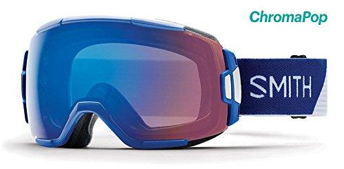 SMITH OPTICS VICE Ski- Snowboardbrille KLEIN BLUE SPLIT - ChromaPOP Rose Flash Strom