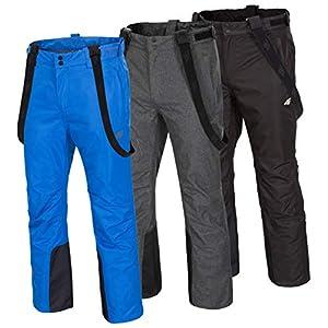 4F Herren Skihose | Wasserdichte Snowboardhose | SPMN001 | Schneehose für Piste Ski | Winterhose mit Kantenschutz | Abnehmbare Träger | Wassersäule 5.000mm
