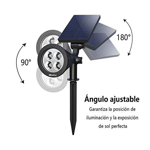 Weepro Energiesparende Solar Garten 2 Stück