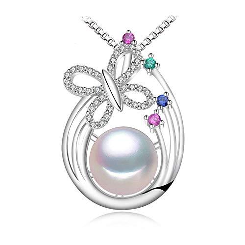 KNY collana 925 Collana in Argento Necklacepearl Dichiarazione Gioielli in Argento Smeraldo Gioielli in ArgentoCollana