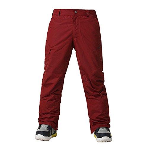 Wonny Herren Skihose Pants Wasserdicht Snowboard Winter Snowboardhose Rot M
