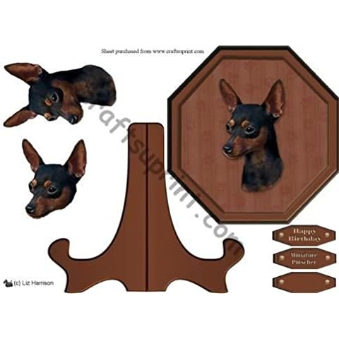 Miniature Pinscher Placca e supporto di Liz Harrison