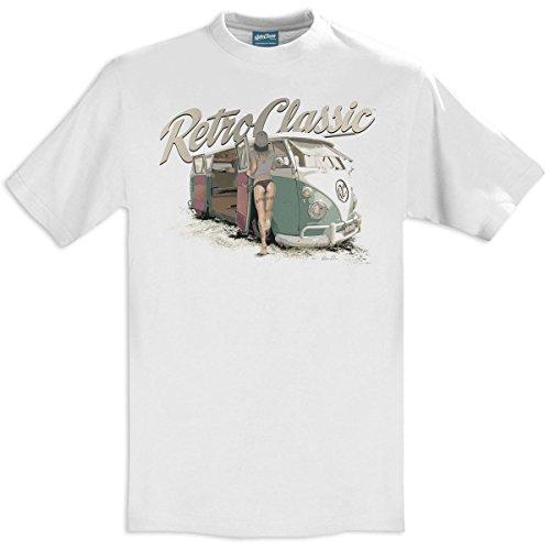 RetroClassic Herren T-Shirt Weiß - Weiß