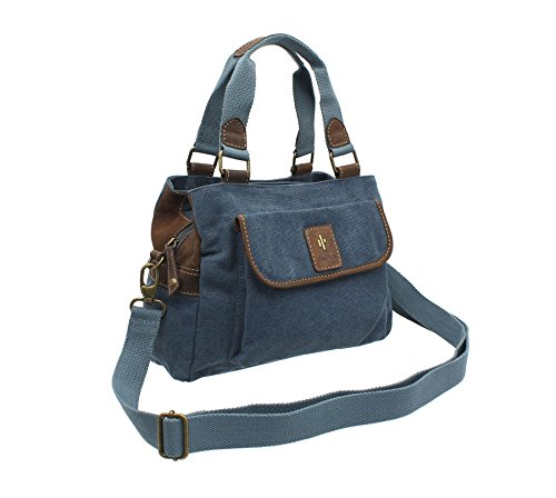 Cactus, Borsa a mano donna, Purple (Viola) - 822_81 Denim