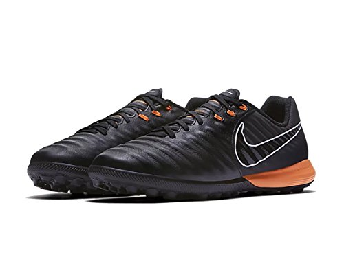Nike Lunar LEGENDX 7 Pro TF Football Boot Black/Total Orange-Black 2018 noir