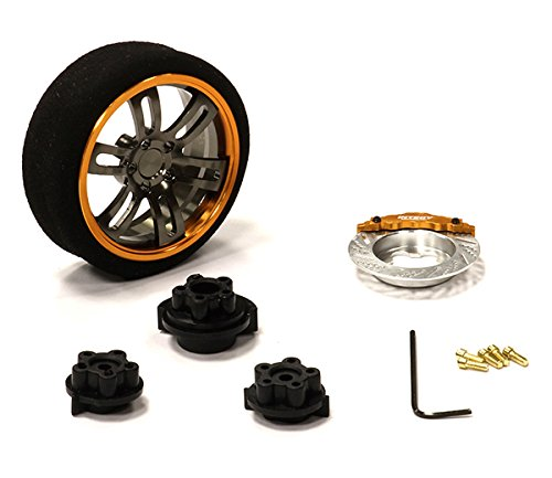 INTEGY RC Model Hop-ups c23826orangegun Evolution XI Steering Wheel Set for Most HPI, Futaba, Airtronics, Hitec & KO