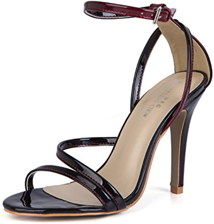 ZHZNVX Sandalias Verano Mujer Nueva Perla Interesante Sexy Mujer de Banquetes Zapatos, Cinturones y Zapatos Que... -
