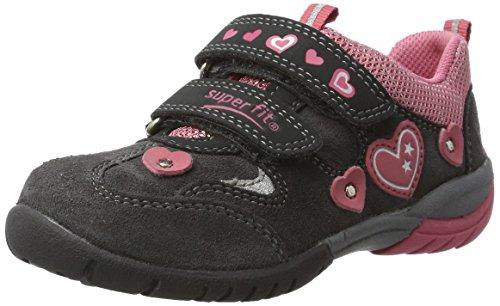 Superfit Mädchen SPORT3 Sneaker, Grau (Charcoal Kombi), 35 EU