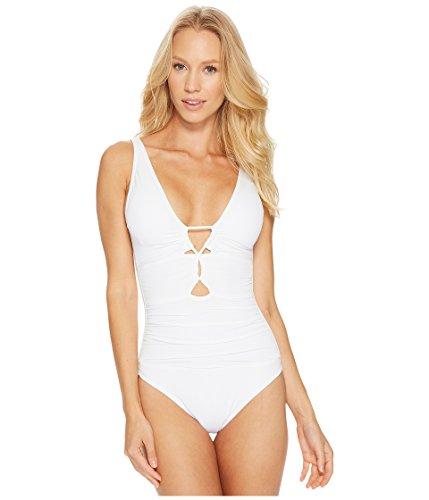 Lauren Ralph Lauren Damen Beach Club Keyhole Front Einteiler - Weiß - 38