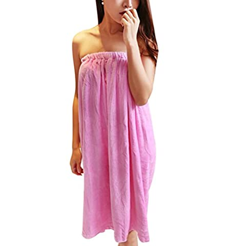Zhuhaitf Women's Towel Wrap, Terry Towelling Cotton Robe Soft Spa Towel, Sarong Towel