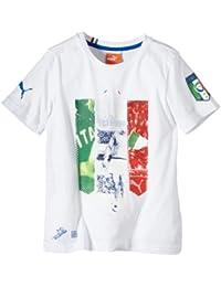 Puma Italien T-Shirt Figc Italia Badge Tee - Guantes de fútbol sala (Italia 5e0d110083c05