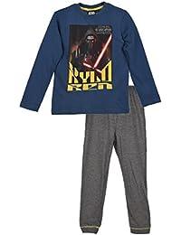 abc0816cc2 Star Wars Kinder Pyjama für Jungen und Mädchen, Schalfanzug Set mit Langarm  Oberteil und Schlafanzughose