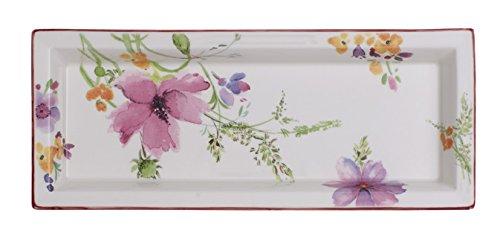 Villeroy & Boch Mariefleur Gifts Coupelle rectangulaire, Porcelaine Premium, Blanc/Multicolore