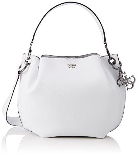 Guess Damen Bags Hobo Umhängetasche, Weiß (White), 14.5x21x31 centimeters (Hobo-handtasche Guess)