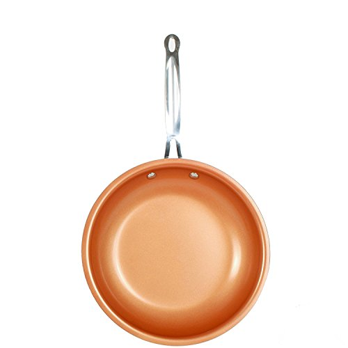 Non-stick Copper Frying Pan with Ceramic Coating and Induction Cooking,Oven & Dishwasher Safe Cooking Tools (28cm)