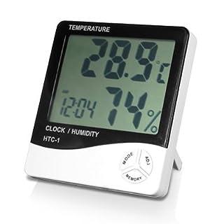 DIGIFLEX Digital LCD Temperature and Humidity Meter Clock Alarm (B003TJLMSS) | Amazon price tracker / tracking, Amazon price history charts, Amazon price watches, Amazon price drop alerts