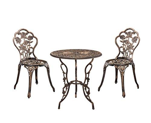 Tavoli In Ghisa Da Giardino.Ssitg Tavolo 2 Sedie Ghisa Antico Bronzo Bistro Set Da Giardino