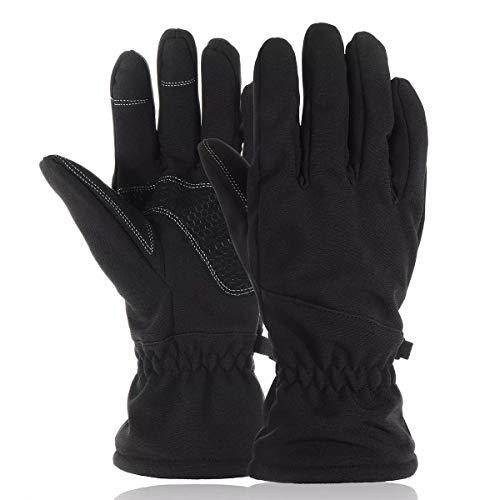 Handschuhe für Motorräder Motorrad Ski Snowboard Handschuhe warme thermische Wintersport Männer Frauen -30 ℃ wasserdicht - grau M (Größe : L) -