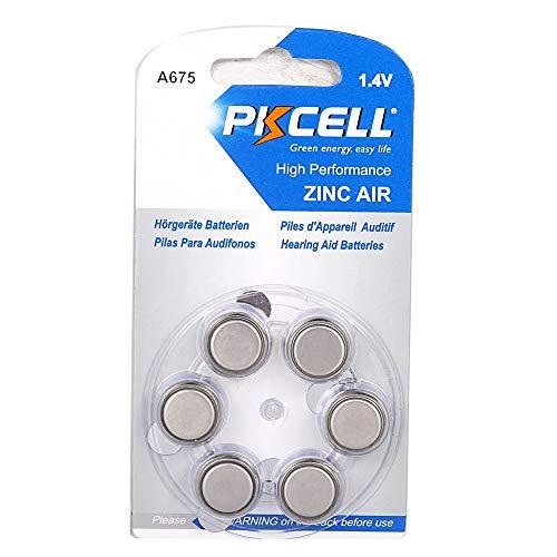 PKCELL 1.4V Hearing Aid A675 675A ZA675 675 PR44 batteria (confezione da 6)