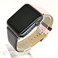 HKFV Superb Amazing Gorgeous Color Mix Charming Fashion Design iWatch Apple Watch Strap Band Leather Watch Strap Bracelet Wrist Band For Apple Watch 1/2/3 38MM