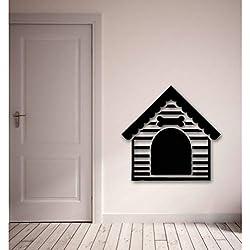 Hundehaus Haus für Hunde Tierliebe Haustiere Wandaufkleber Vinyl Aufkleber