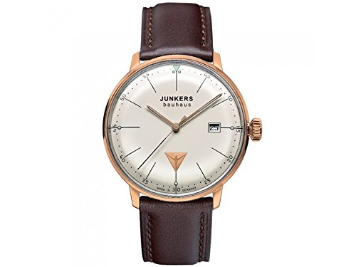 Junkers Herren Analog Quarz Uhr mit Leder Armband 60741