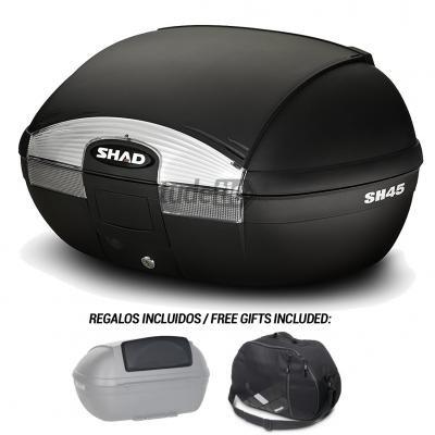 SHAD - D0B45100-KIT2/214 : Baul trasero maleta scooter moto + respaldo + bolsa SH45 SH 45