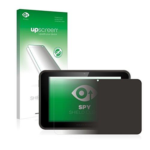 upscreen Spy Shield Clear Blickschutzfolie / Privacy für HP Pro Slate 10 EE (Sichtschutz ab 30°, Kratzschutz, selbstklebend)