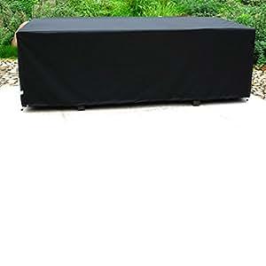 DCB GARDEN Housse de protection Noir 210 x 105 x 72 cm HOUSSE-8P