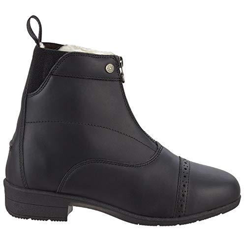 Stiefelette »ICELOCK MERINO FZ« mit Reißverschluss vorne. Bequeme Winter Boots aus Echtleder   Reitschuh mit Merino Wolle   Tolle Passform   Stiefel-Schuh Größen 35-46   Farbe: Schwarz & braun -