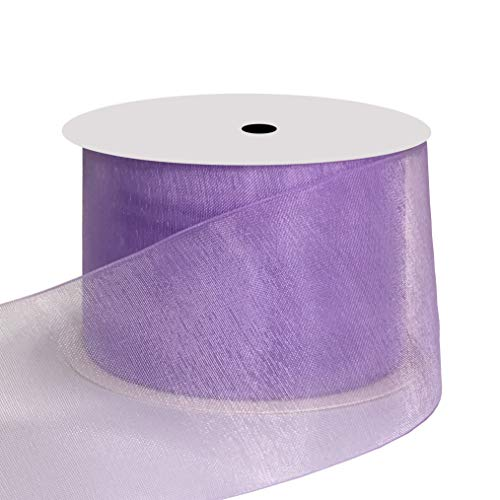 duoqu 1-1/5,1 cm breit Shimmer Durchscheinendes Organzaband 25 Meter 1-1/2 inch wide and 25 yards length Light Orchid -