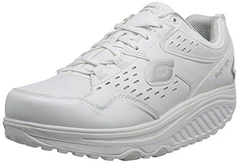 Skechers Shape Ups 2.0 Perfect Comfort, Women's Fitness Shoes, White (White/Silver), 4 UK (37 EU)