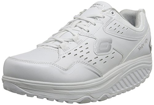 Skechers2.0 Perfect Comfort - Scarpe Sportive Outdoor donna , Bianco (White (White/Silver)), 40 EU